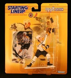 JAROMIR JAGR / PITTSBURGH PENGUINS 1998 NHL Starting Lineup Action Figure & Exclusive Upper Deck NHL Collector Trading Card by Starting Line Up. $3.00. JAROMIR JAGR / PITTSBURGH PENGUINS 1998 NHL Starting Lineup Action Figure & Exclusive Collector Trading Card. Displayed figure stands approximately 6 inches. Ages 4 and up. From Kenner. Jaromír Jagr ( born February 15, 1972) is a Czech professional ice hockey right winger who plays for the Philadelphia Flyers of the National H...