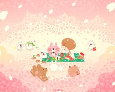 on Behance Cute Wallpaper Backgrounds, Cute Cartoon Wallpapers, Love Wallpaper, Pattern Wallpaper, Iphone Wallpaper, Kawaii Illustration, Kawaii Drawings, Cute Drawings, Matte Painting