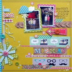 """Midway Memories"" - Ashley Horton Designs #scrapbooking"
