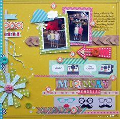 """Midway Memories"" - Ashley Horton Designs #scrapbooking"