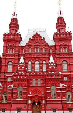 Red Square, Moscow, Russia ((Love this museum-- B' Russian Architecture, Beautiful Architecture, Beautiful Buildings, Beautiful Places, Red Architecture, City Trip Europe, Places Around The World, Around The Worlds, Russian Culture