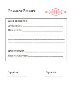 House Rent Receipt Template  Printableform    Receipt