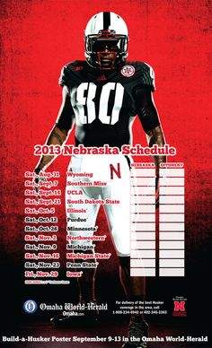 Want a copy of this 2013 Nebraska football schedule featuring the alternate uniform the Huskers will wear against UCLA? Call 402-444-1014; $5 for shipping. More info: http://sports.omaha.com/2013/08/15/get-your-2013-husker-football-schedule-poster/