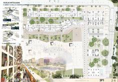 3er. Puesto. Concurso Plaza de la Hoja. David Delgado Arquitectos. Plancha 2/6.
