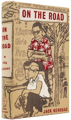Jack Kerouac 'On the Road' 58'. Cover Art by Len Deighton  Andre Deutsch (1958)