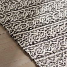 Jodi Handwoven Flatweave Cotton Ivory Anthracite Area Rug
