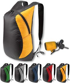 Sea to Summit Ultra Sil Daypack. In yellow or red plz. Waterproof, lightweight, and folds down to palm size when not in use. Perfect for trekking and water activities!