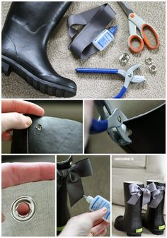 A cute way to update a basic pair of rain boots