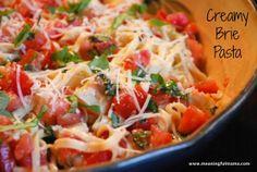 Creamy Brie Pasta Recipe #pasta #recipes