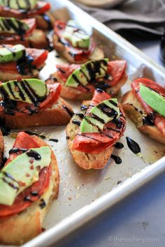 Avocado and Chorizo Toasts with Balsamic Glaze | Creamy avocado with spicy chorizo and sweet balsamic glaze on toast. A perfectly delicious and simple recipe for your next | TheNoshery.com