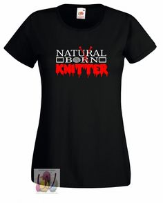 T-Shirt taillert Natural Born Knitter