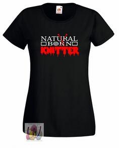 T-Shirt taillert Natural Born Knitter