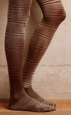 Gilded Stripe Tights     Pinned by topista.com