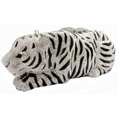 #Crystal #Tiger #Clutch #Bag