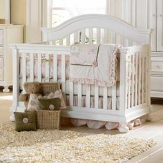 white convertible crib - this looks a lot like the one we picked at Ladies in Waiting. Gotta go register soon!
