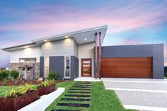 Adenbrook Homes are award winning new home builders offering our services in NSW and QLD. Select from single storey, double storey and duplex designs. House Roof, Facade House, House Facades, Minimalist House Design, Modern House Design, One Level House Plans, House Cladding, Contemporary House Plans, Storey Homes