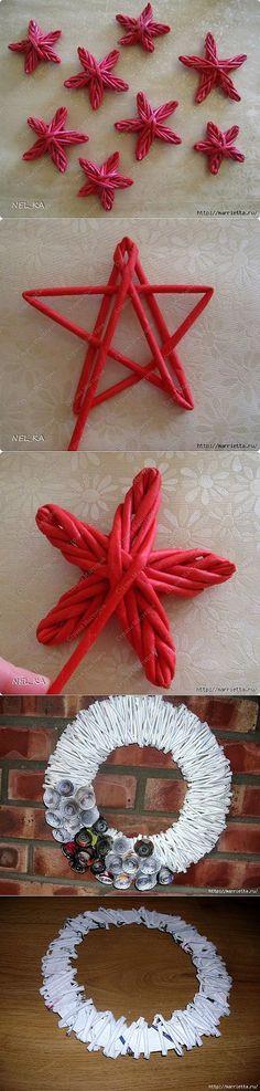 Новогоднее плетение из газет. ЗВЕЗДЫ из газетных трубочек. Christmas Love, Christmas Crafts, Christmas Decorations, Christmas Ornaments, Willow Weaving, Basket Weaving, Decor Crafts, Diy And Crafts, Paper Quilling Tutorial