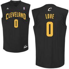 Adidas NBA Cleveland Cavaliers 0 Kevin Love New Revolution 30 Swingman Black Jersey