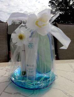#Gift basket for a f#riend's birthday, custom baskets available, just ask. Visit my web store at www.surshae.com or my FB page at surshae @Arbonne International. Consultant ID: 21565488