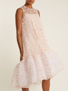 Click here to buy HUISHAN ZHANG Jodie petal-appliqué tulle dress at MATCHESFASHION.COM