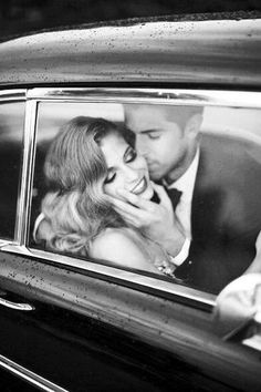♔ Moira Hughes // wedding car // stolen kiss // Instagram:moirahughescouture