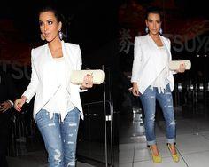 Kim Kardashian in Jet jeans and Christian Louboutin | http://www.celebrityfashionista.com/kim-kardashian/jet-jeans-and-christian-louboutin/