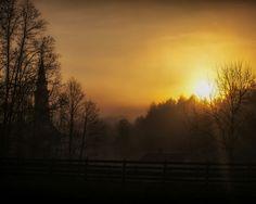 Sunrise over the village, Hale Farm and Village. Blink Photography, Ohio, Sunrise, Bath, Celestial, Outdoor, Outdoors, Columbus Ohio, Bathing