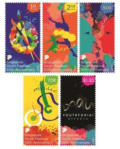 Special Stamps celebrating Singapore Youth Festival 50th Anniversary