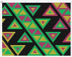 Wayuu Mochila pattern muster, Rapport 45 Maschen Tapestry Crochet Patterns, Knit Patterns, Beading Patterns, Bag Crochet, Crochet Purses, Tapestry Bag, Indian Rugs, Fair Isle Pattern, Native Beadwork