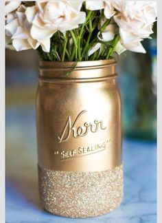 LOve the solid gold and glitter base! Could be done on other things with a similar shape