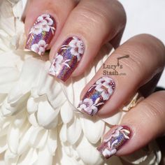 Lucy's Stash - one stroke nail art