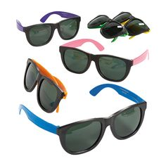 Cool Neon Sunglasses - OrientalTrading.com. What if we let the kids decorate their own sunglasses???
