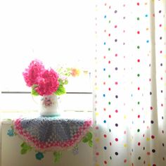 Doily with flower edging Modern Crochet, Love Crochet, Knit Crochet, Love Your Home, Crochet Doilies, Decorative Items, Decoration, Sweet Home, Crafty