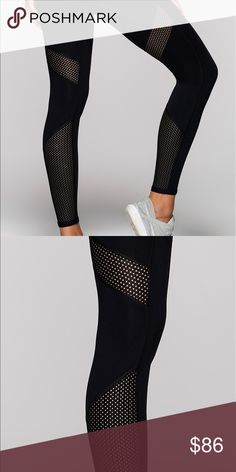 Lorna Jane black, mesh tights Fashion meets functional in the Anna Core mesh panelled tights. Active core stability supports you no matter what your activity, & the mesh panels keep you cool & cute. Lorna Jane Other