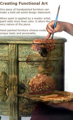 Wonderful, creative project! Hand Painted Furniture French Country Furniture