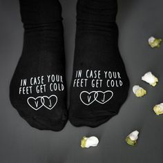 In Case Your Feet Get Cold Wedding Socks