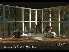 Sims 4 Designs: Screen Porch Windows • Sims 4 Downloads