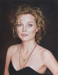 "Saatchi Art Artist TEODOR BOZHINOV; Drawing, ""Portrait of amazing Michelle Pfeiffer"" #art"