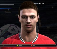 Jonny Evans face for Pro Evolution Soccer 2012 Jonny Evans, Pro Evolution Soccer, Faces, The Face, Face