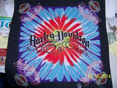 "harley-davidson bandanna ""tie-dye design"" LIMITED EDITION"