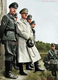 Heinrich Himmler and Adolf Hitler.