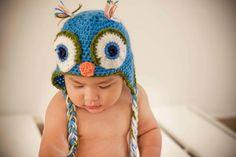 Gorrito Búho crochet