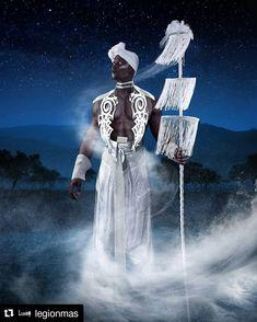 "Obatalá/Oxalá in ""Afro Deities"" by Melissa Simon Hartman (Legion Mas) (UK) Obatala Santeria, Yoruba Orishas, African Mythology, Yoruba Religion, Black Art Pictures, Spirited Art, Goddess Art, Costume Collection, Afro Art"