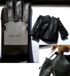 Fashion Doll Stylist -- leather coat tutorial