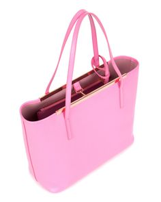 Leather crosshatch shopper - Mid Pink | Outlet | Ted Baker UK