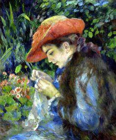 Renoir, Marie-Thérèse Durand-Ruel cousant, 1882