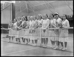 File name: Title: Tennis Creator/Contributor: Jones, Leslie, (photographer) Date created: 1917 - 1934 (approximate) Physical description: 1 negative : glass, black & white ; 4 x 5 in. Tennis Camp, Tennis Party, Le Tennis, Sport Tennis, Camping In Maine, Tennis Pictures, Vintage Tennis, Boston Public Library, Tennis Fashion