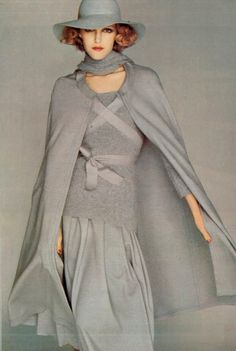 French Vogue, 1974. I would so wear this outfit NOW!! Love grey!