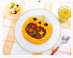 Halloween curry☆大きなお口のカボチャお化けカレー