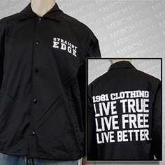 Live True Black Windbreaker